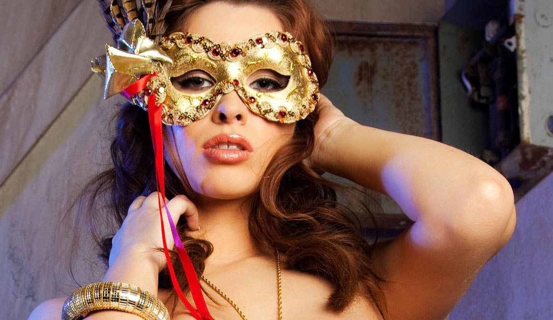 Gold Mask, Close Up Picture, Adult Entertainment, New Orleans - The Penthouse Club
