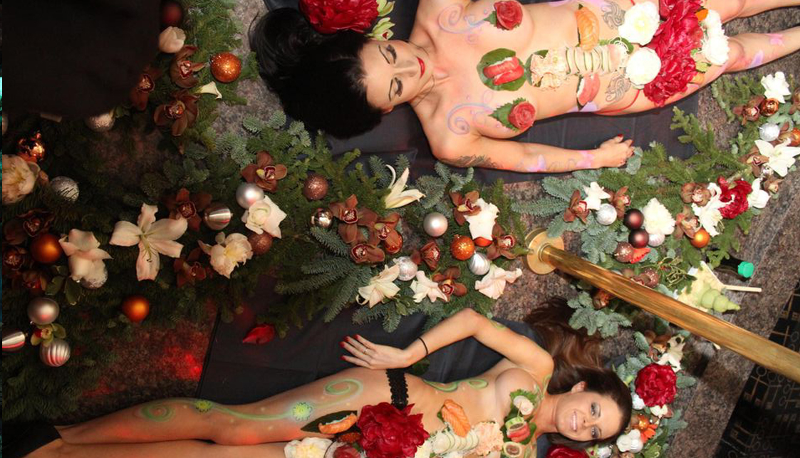 New Orleans Bachelor Party, Photo Of Sushi Served On Two Naked Ladies - The Penthouse Club
