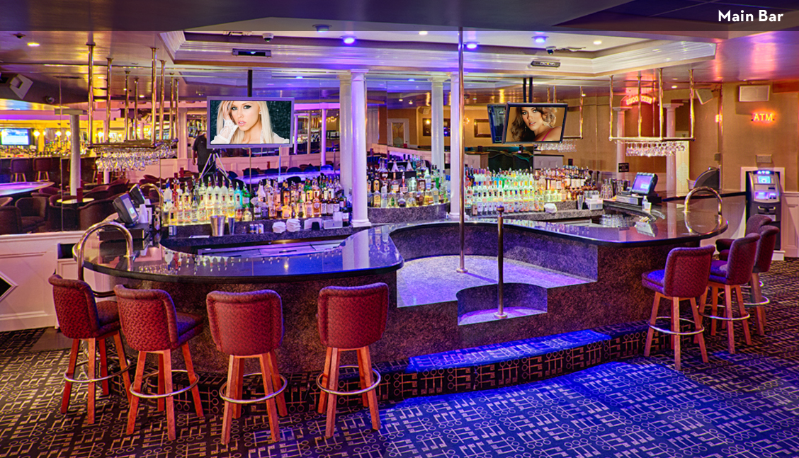 New Orleans Strip Clubs, Interior Main Bar Image - The Penthouse Club New Orleans