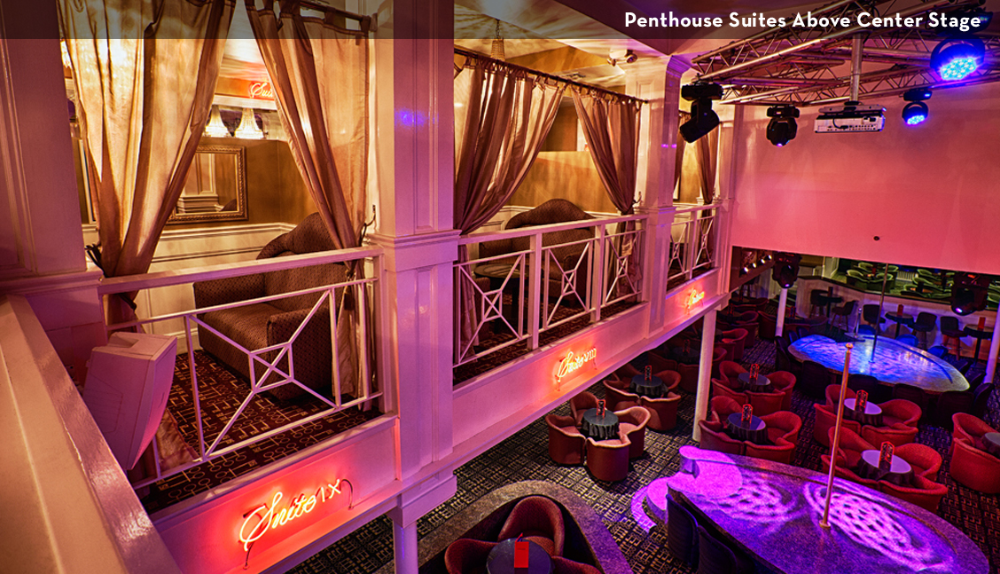 New Orleans Strip Clubs, Interior Above Main Stage Image - The Penthouse Club New Orleans