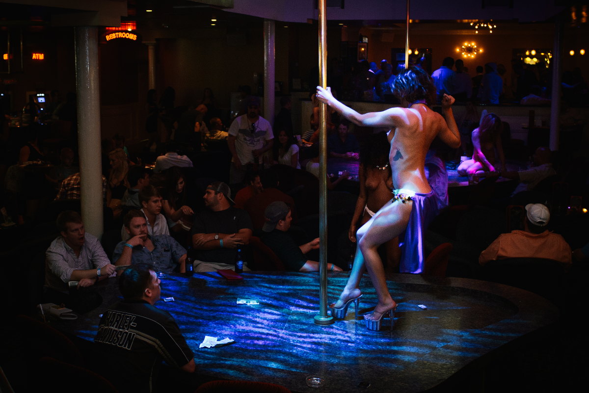 Exotic Dancer In Purple Light, Nightlife New Orleans Photo - The Penthouse Club
