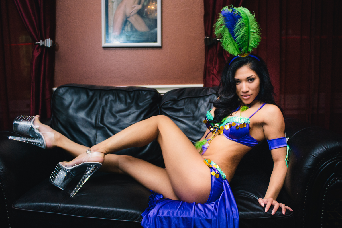 Seductive Mardi Gras Exotic Dancer Image, Nightlife New Orleans - The Penthouse Club